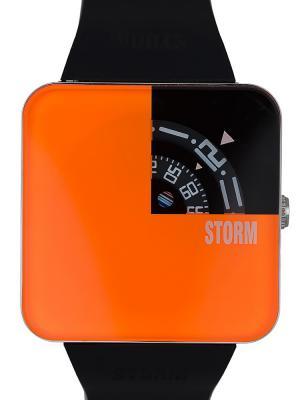 Часы STORM SQUAREX ORANGE 47117/O Storm.. Цвет: черный, оранжевый