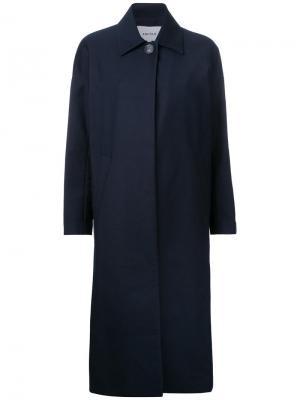 Свободное пальто на одной пуговице Enföld. Цвет: синий