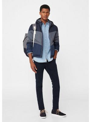 Куртка MANGO MAN. Цвет: темно-синий