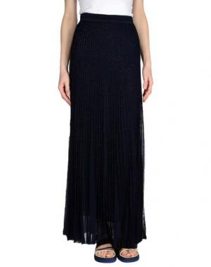 Длинная юбка GENTRYPORTOFINO. Цвет: темно-синий