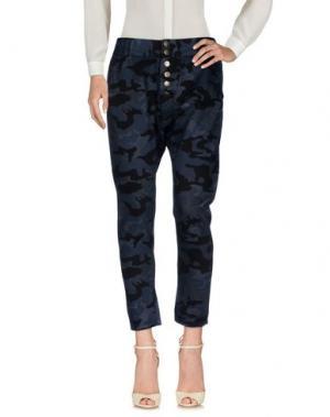 Повседневные брюки POÈME BOHÈMIEN. Цвет: грифельно-синий