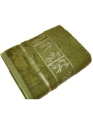 Бамбуковое полотенце 70*140 см. Dream time. Цвет: хаки