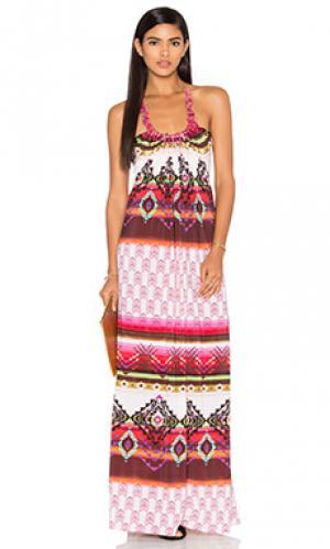 Платье quenbya sky. Цвет: фуксия