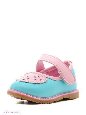 Туфли Modis. Цвет: бирюзовый, светло-голубой, розовый