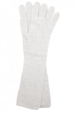 Удлиненные перчатки из кашемира Johnstons Of Elgin. Цвет: светло-серый