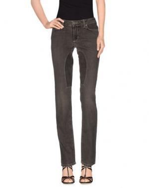 Джинсовые брюки SIVIGLIA. Цвет: свинцово-серый