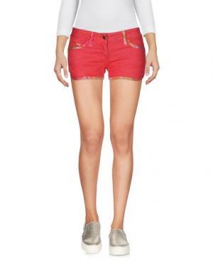 Джинсовые шорты MET. Цвет: красный