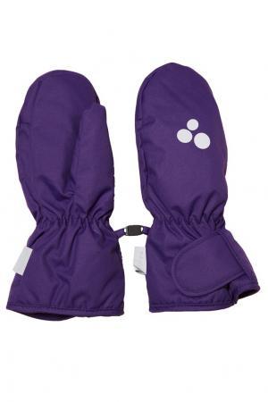 Фиолетовые варежки с липучкой Huppa. Цвет: фиолетовый