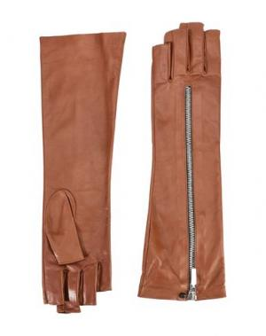 Перчатки LIA BOO ACCESSORIES. Цвет: коричневый