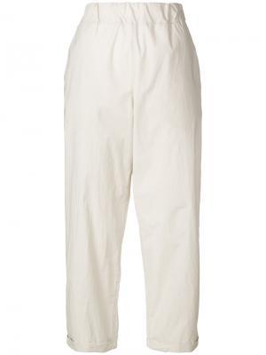 Широкие укороченные брюки Labo Art. Цвет: телесный