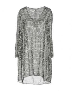 Короткое платье 100X200 CENTOXDUECENTO. Цвет: черный