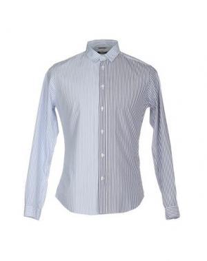 Pубашка DANIELE ALESSANDRINI HOMME. Цвет: небесно-голубой
