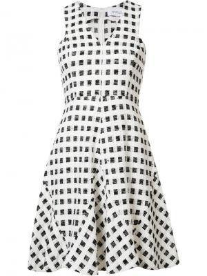 Расклешенное клетчатое платье Derek Lam 10 Crosby. Цвет: чёрный