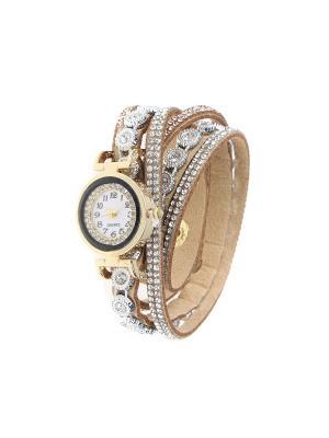 Браслет-часы Olere. Цвет: золотистый, коричневый, серебристый