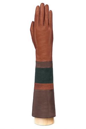 Перчатки Eleganzza. Цвет: коньячный, темно-коричневы