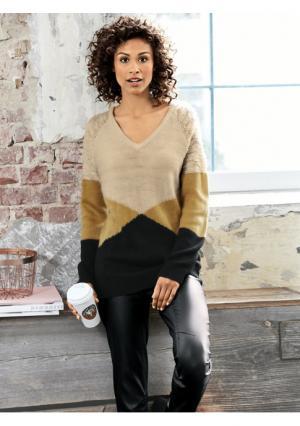 Пуловер B.C. BEST CONNECTIONS. Цвет: черный/бежевый