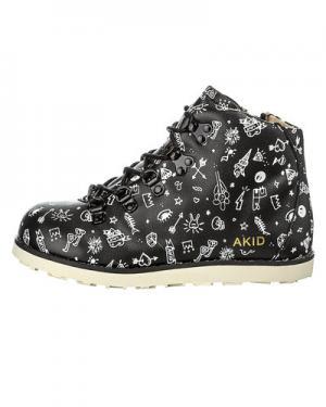 Ботинки AKID Jasper. Цвет: черный с белым