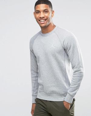 Jordan Серый свитшот Nike Jumpan Flight 823068-063. Цвет: серый