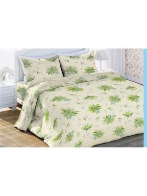 Комплект постельного белья 2,0 бязь Аромат Весны Любимый Дом. Цвет: светло-зеленый, белый