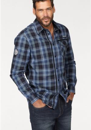 Рубашка MANS WORLD MAN'S. Цвет: синий/в клетку