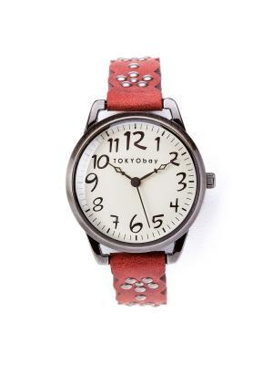 Часы Tokyobay Scallop Red. Цвет: красный