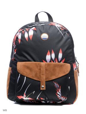 Рюкзак ROXY. Цвет: черный, бежевый