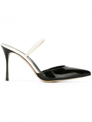 Туфли с заостренным носком Sergio Rossi. Цвет: чёрный