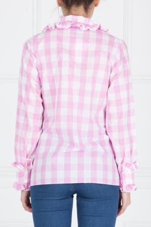 Хлопковая блузка Duro Olowu. Цвет: розовый