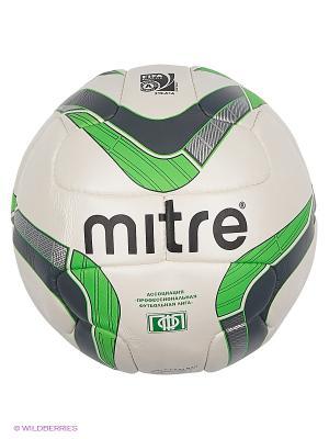 Мяч футбольный MITRE DELTA ПФЛ FIFA Approved. Цвет: зеленый, белый, черный