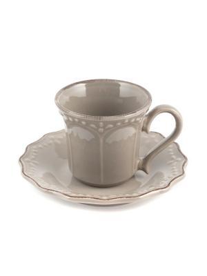 Набор кофейных пар CROWNE H&H. Цвет: серый