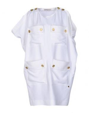 Короткое платье ALEXANDER TEREKHOV. Цвет: белый