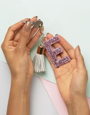 Skinnydip Брелок для ключей с буквой E. Цвет: мульти