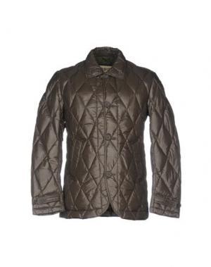 Пуховик BPD BE PROUD OF THIS DRESS. Цвет: зеленый-милитари