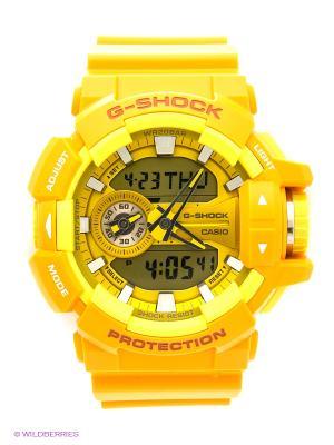Часы G-SHOCK GA-400A-9A CASIO. Цвет: светло-оранжевый, желтый