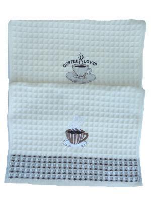Полотенца кухонные A and C Collection. Цвет: бежевый, белый, коричневый