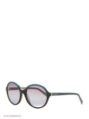 Солнцезащитные очки JC 557S 86F Just Cavalli. Цвет: коричневый, бирюзовый
