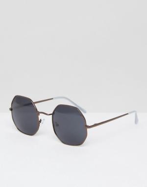 AJ Morgan Золотистые солнцезащитные очки. Цвет: золотой