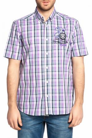 Рубашка Galvanni. Цвет: purple, white, black