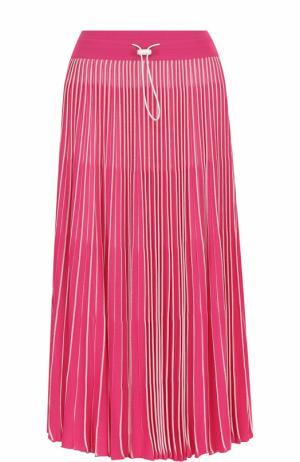 Плиссированная юбка-миди с эластичным поясом Valentino. Цвет: розовый