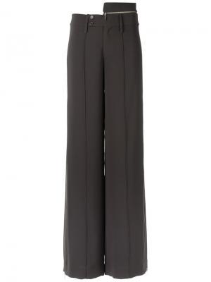 Широкие брюки Gloria Coelho. Цвет: коричневый