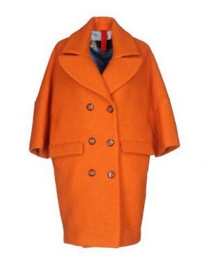 Пальто FEMME by MICHELE ROSSI. Цвет: оранжевый