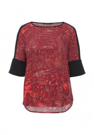 Блуза Sisley. Цвет: бордовый