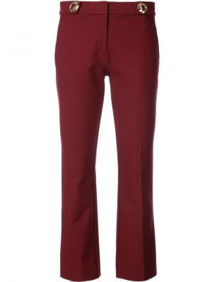 Укороченные брюки клеш с отделкой Derek Lam 10 Crosby. Цвет: красный