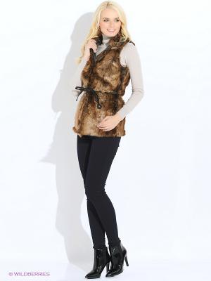 Жилет Vero moda. Цвет: темно-коричневый, бежевый