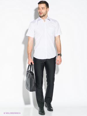 Рубашка Hans Grubber. Цвет: белый, сиреневый