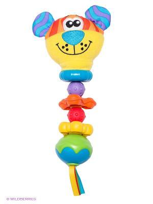 Игрушка-погремушка Тигр Playgro. Цвет: желтый, зеленый, бирюзовый, оранжевый