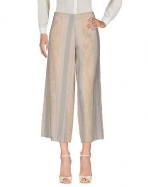 Повседневные брюки CRISTINA ROCCA. Цвет: светло-серый