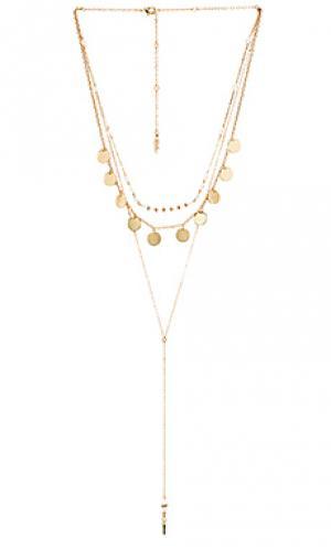 Ожерелье layered lariat Ettika. Цвет: металлический золотой