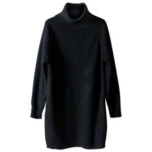 Платье-пуловер с воротником из шерсти и альпаки La Redoute Collections. Цвет: серый меланж,черный