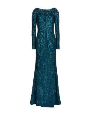 Длинное платье JENNY PACKHAM. Цвет: цвет морской волны